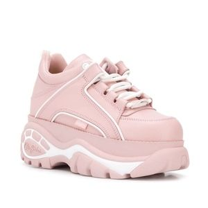 NEW LF Pink Leather Platform Sneakers